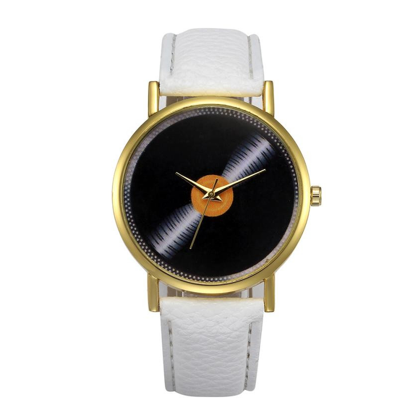 2018 NEW Men's Retro Design Leather Strap Wrist Watches Sport Clock Men Simple Black Dial Quartz Watch Relogio Masculino #LH special design turntable dial leather band strap all black men wrist watch modern simple fashion quartz watches