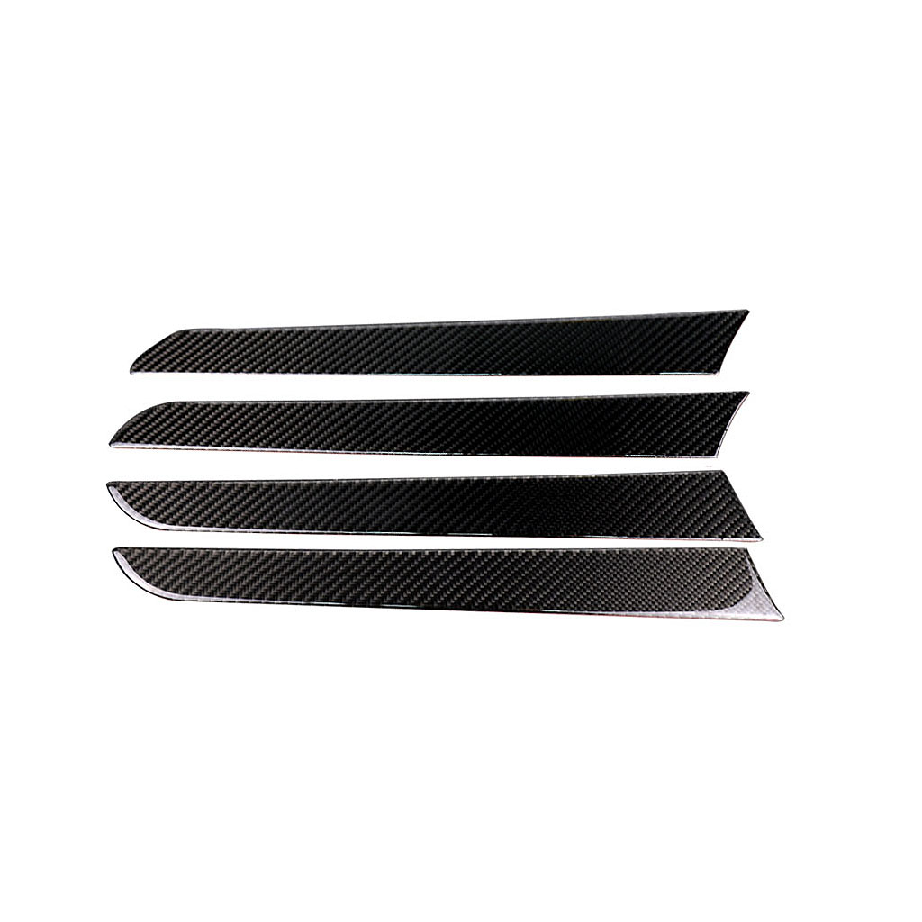 Carbon Fiber Car Interior Left Hand Drive Dashboard Panel Decal Cover Trim Strips For Audi A4 B8