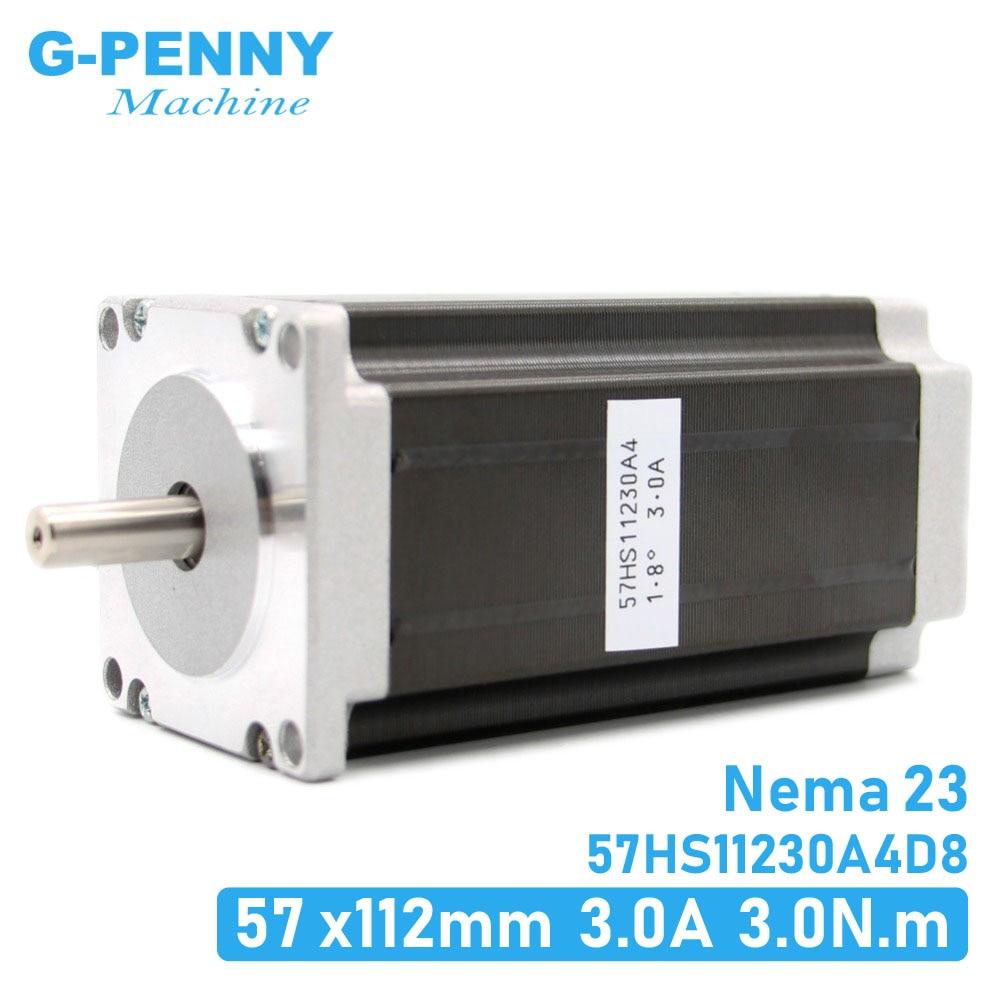 ¡NEMA23 motor paso a paso 57 112mm x 4-plomo 3A 3N! m/Nema 23 motor 112mm 428Oz-in para 3D impresora para CNC fresadora de Grabado de la máquina