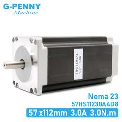 NEMA23 stepper motor 57x112mm 4-lead 3A 3N.m / Nema 23 motor 112mm 428Oz-in for 3D printer for CNC engraving milling machine