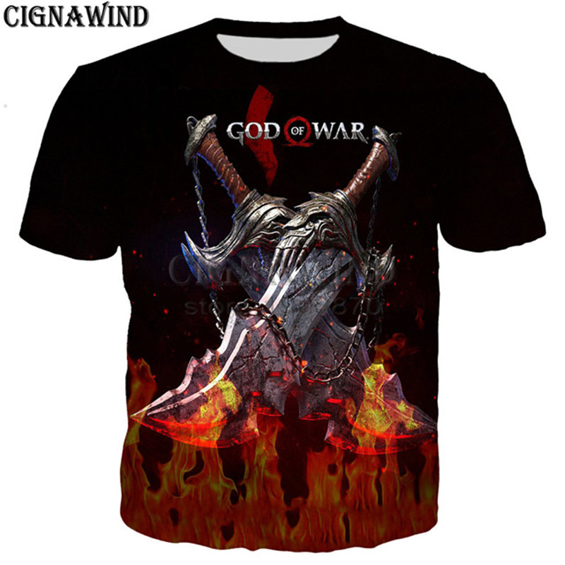 GOW Shirt men/women game Kratos God Of War 3D print t-shirts