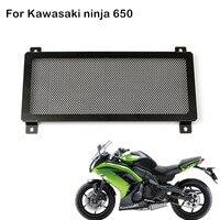 Stainless Steel Motorcycle Radiator Grille Guard Protector Cover Motor bike For Kawasaki ER6F ER6N NINJA 650r ninja650 Z650