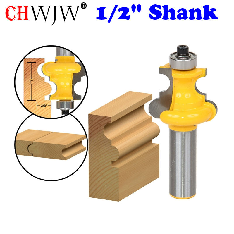 1PC Flute & Bead Molding Router Bit - 1/2 Shank Line knife Woodworking cutter Tenon Cutter for Woodworking Tools