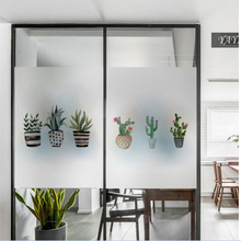 Frosted glass stickers Nordic Ins potted Bathrooms balcony door windows electrostatic transparent opaque film
