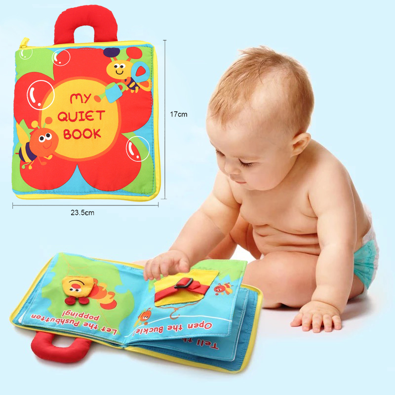 Cloth Books Infant Early Cognitive Development My Quiet Bookes Baby Goodnight Educational Washable Cloth Book Activity Book DS19 my first abc sticker activity book