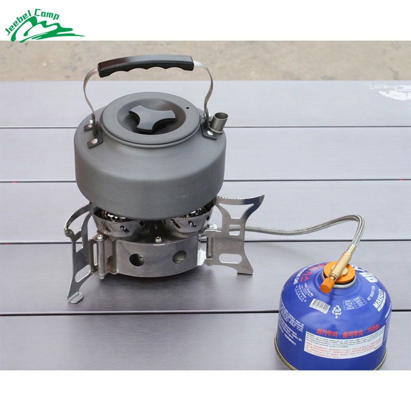 Gas Burners 11000W Super Power Stove Outdoor Camping Cooking Windproof Butane Burners Portable Heater Furnace Gas Stove in Outdoor Stoves from Sports Entertainment