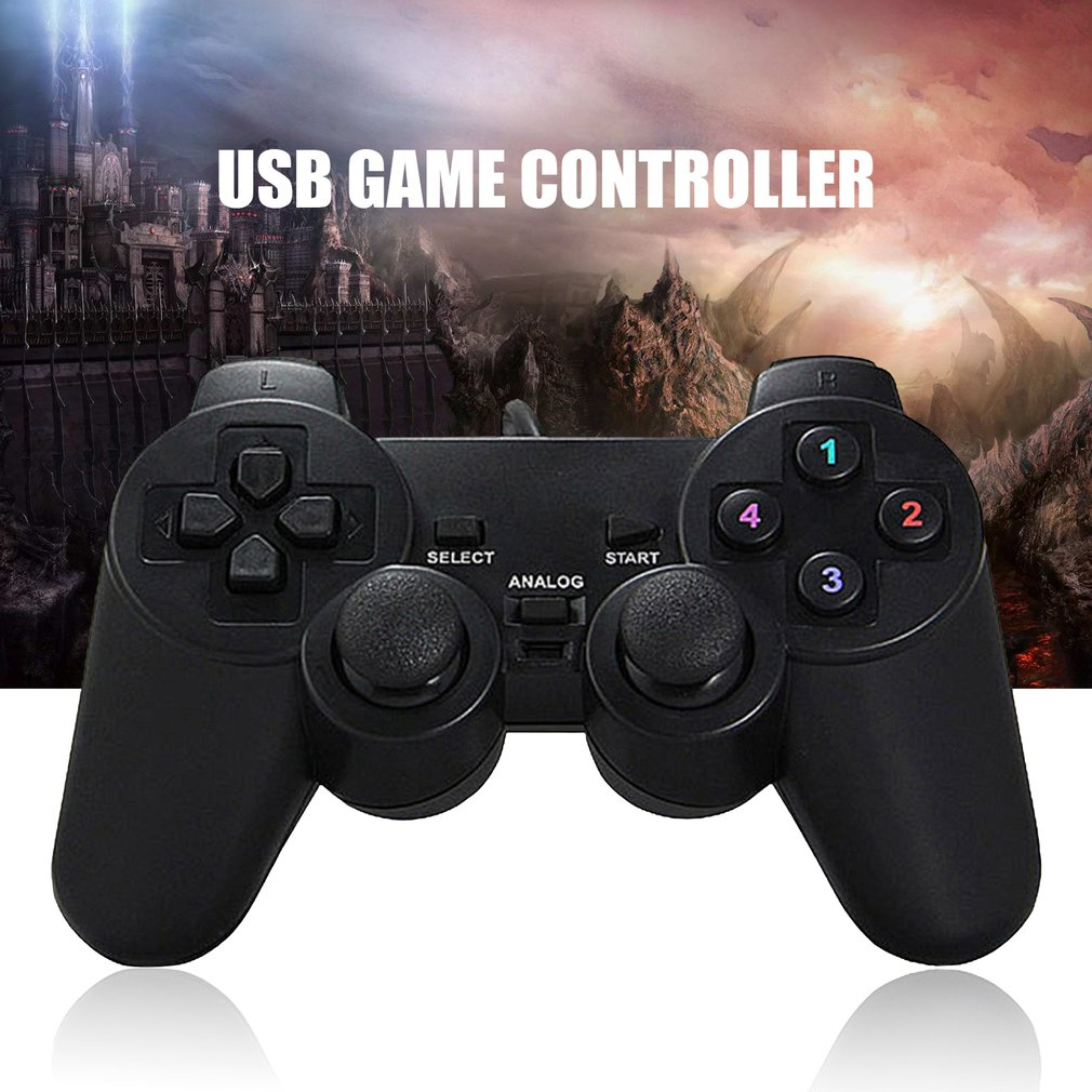Wired Gamepad <font><b>Joystick</b></font> USB2.0 Shock Joypad Gamepads Game Controller For PC <font><b>Laptop</b></font> Computer Win7/8/10/XP/Vista Hot image