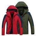 Зимняя куртка мужчины/женщины плюс бархат толстые теплые пальто куртки ветрозащитный водонепроницаемый дышащий куртку от дождя пальто размер L-5XL