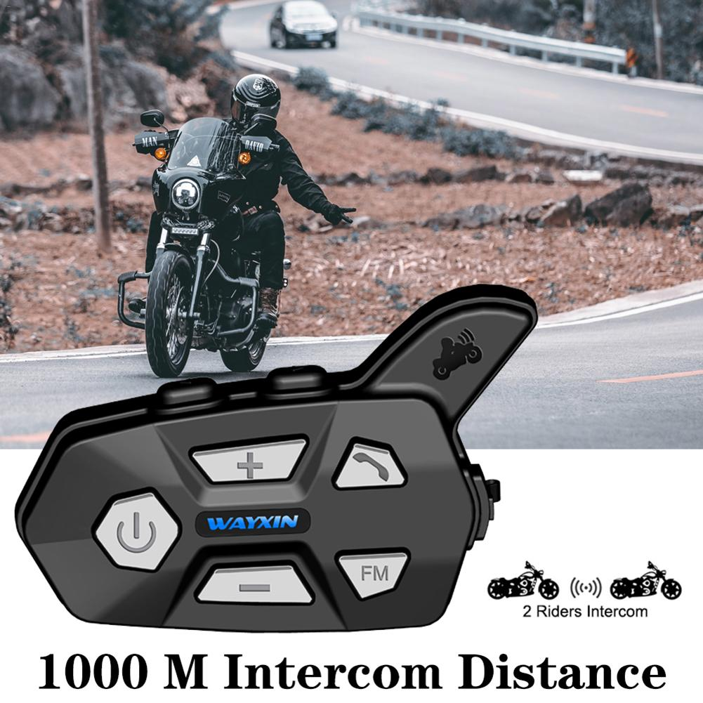 New 2019 Bluetooth Intercom Helmet Headsets Riders For Motorcycle R5 FM Bt Wireless Inter-comunicator Interphone Mp3