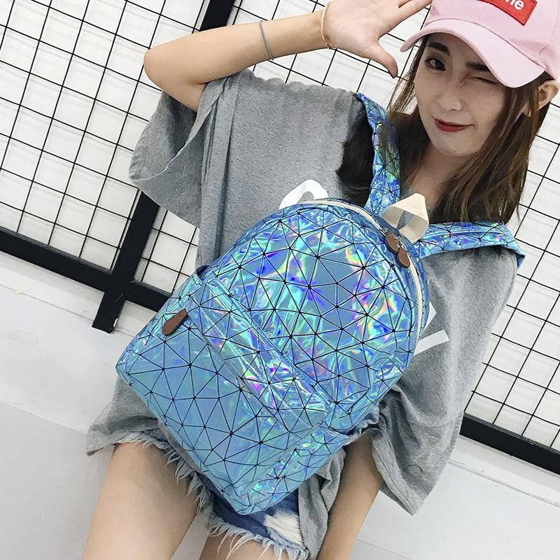 HTB1jgs XdfvK1RjSszhq6AcGFXa4 Large Travel Bags Laser Backpack Women Men Girls Bag PU Leather Holographic Backpack School Bags for Teenage Girls fashion bag