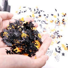 15g Halloween Confetti Pumpkin Spider Bat Witch Spider web Sprinkles Table Confetti Bright Halloween Night Decor Party Supplies