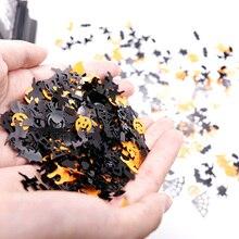 15g Halloween konfetti dyniowy pająk Bat czarownica Spider web Sprinkles tabela konfetti jasna noc Halloween Decor zaopatrzenie firm