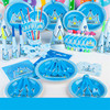 90 Pcs Boys Crown Birthday Party Decoration Tableware Set Flower Cartoon Theme Napkin Cup For Children