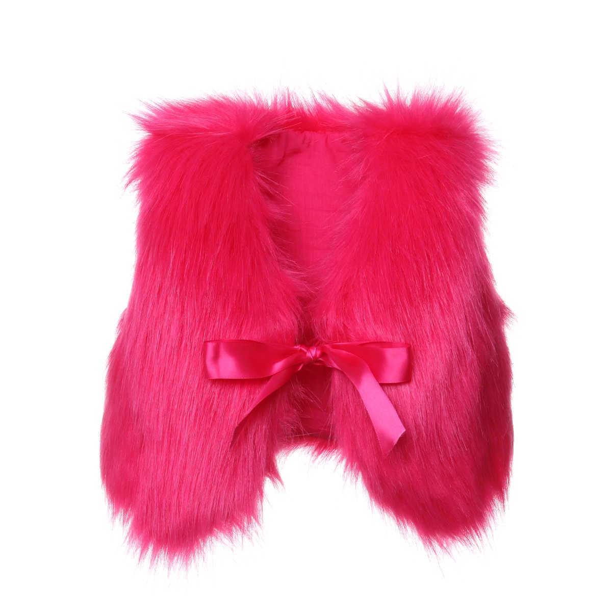 Mùa thu Thời Trang NEW Baby Cô Gái Faux Fur Vest Áo Ghi Lê Bé Mùa Đông Ấm Áp Áo Khoác Outwear Coat
