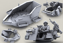 Free Shipping 1/35 Scale Unpainted Resin Cast Kit Modern military Hummer warfare weapon tower