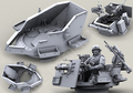 Бесплатная Доставка 1/35 Масштаб Смолы Литье Комплект Современный военный Hummer войны оружие башня