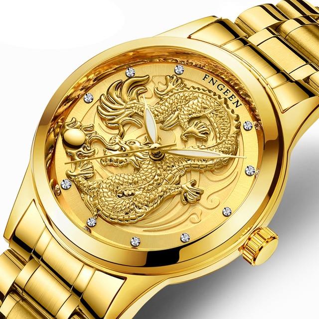 Creative Dragon Luxury Fashion Steel Strap Watch Men Quartz-watch Casual Male Sp