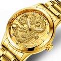 Kreative Drachen Luxus Mode Stahlband Uhr Männer Quarz uhr Beiläufige Männliche Sport Business Armbanduhr Uhr Relogio Masculino-in Quarz-Uhren aus Uhren bei