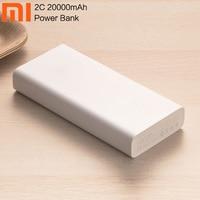 Xiaomi Power Bank 20000mAh 2C portable charger Support QC3.0 Dual USB Mi batterie externe mini mi powerbank for Mobile Phones