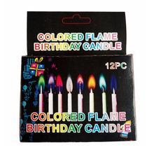 12 шт./кор. разноцветный пламени свечи подарок на свадьбу: разноцветный для вечеринки, дня рождения свечи для торта украшения вечерние поставки FES7072 c
