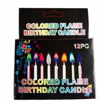 12 sztuk pudło wielobarwne świece płomień kolorowe wesele świeczki na tort urodzinowy dekoracje zaopatrzenie firm FES7072 c tanie i dobre opinie Kolorowe płomień Urodziny Trimethyl citrate Birthday candle Ogólne świeca Filar party supplies