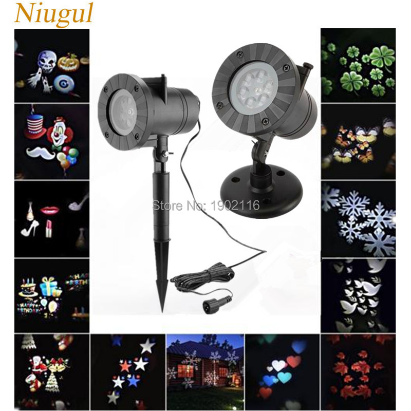 LED Projector Light Landscape Spotlight Waterproof Outdoor and Indoor Party Lights with 12 types Snowflake Christmas Theme Party white snowflake led stage lights waterproof projector lamps outdoor indoor decor spotlights for christmas party holiday lights