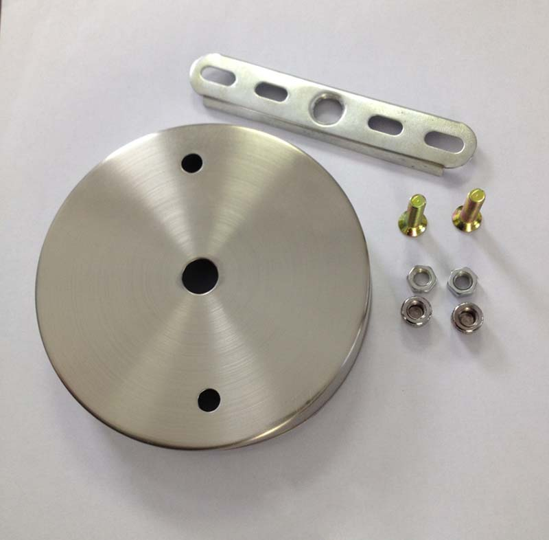 ᗑd100mm Satin Nickel Ceiling Plate Ceiling Ceiling
