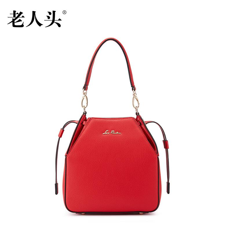 laorentou high quality luxury fashion brand 2016 new bucket bag leather bag counter genuine well known