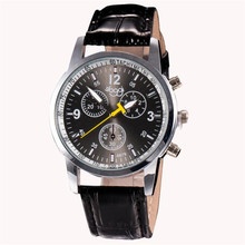 2017 New Luxury Fashion Crocodile Faux Leather Men Glass Quartz Analog Watches Casual Cool Watch Brand Men Watches