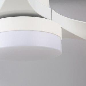Image 4 - Ventilador de teto com controle remoto, luz de led de economia de energia 24w, decoração familiar, lâmpada de teto tricolorida, sala de estar ventilador
