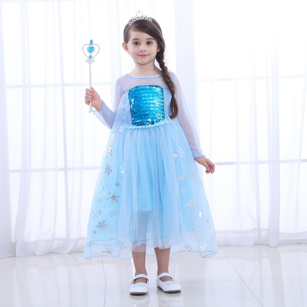 Free shipping New style Frozen princess skirt girl's dress summer style short sleeves princess dress birthday performance dress