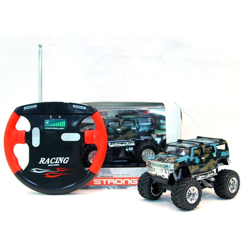 Elektrikli RC Arabalar Hummer Off-road Araçlar Sönümleme 4CH Için Işıkları Ile Çok Renkli Mini Oyuncak Araba Uzaktan Kumanda Araba çocuk Hediye