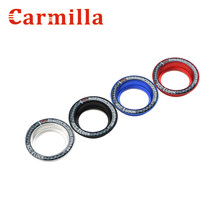 Carmilla Aluminium Ignition Key Switch Ring Cover Circle Sticker for Ford Focus 2 3 4 Kuga Escape Mondeo 2013 2014 2015 2016