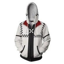 Fans Wear Sweatshirt Kingdom Hearts Roxsa Zip Up Hoodie Harajuku Cosplay Hip Hop Sweatshirts zip up hoodie