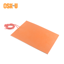 1.5-1.8mm thickness Silicone Heater Pad 12/24V Electric Heating Element Anti-freezing Heating Pad for Air Conditioner Compressor