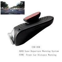 USB Dash Camera DVR Video Recorder Camera Full HD 1080P ADAS Lane Departure Warning System Motion