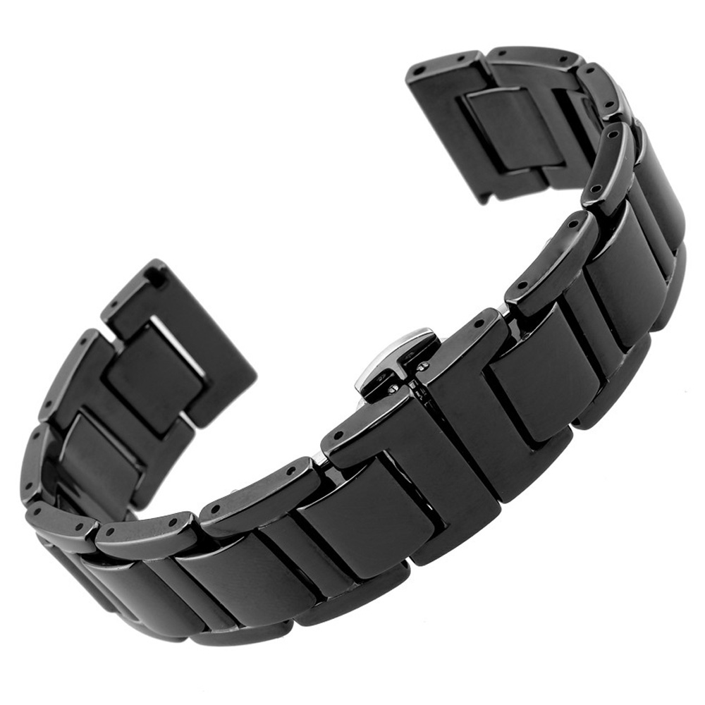 20mm 22mm Watchband Seramik Kayış Samsung Dişli S3 Üç Linkler - Saat Aksesuarları - Fotoğraf 5