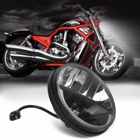 7 inch Harley led headlight Hi Lo beam projector Lens for Harley motorcycle for Jeep Wrangler JK CJ headlamp