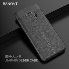For Samsung Galaxy S9 Case Shockproof Luxury Leather Soft TPU Case For Samsung Galaxy S9 Cover For Samsung S9 Case G9600 BSNOVT цена и фото