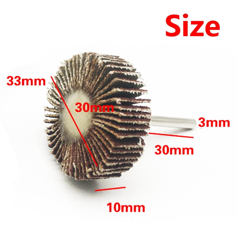 Polishing Disc Set 5Pcs Sandpaper Sanding Flap Wheel Sanding Disc For Rotary Tool Shutter Power Dremel Accessories Color Random