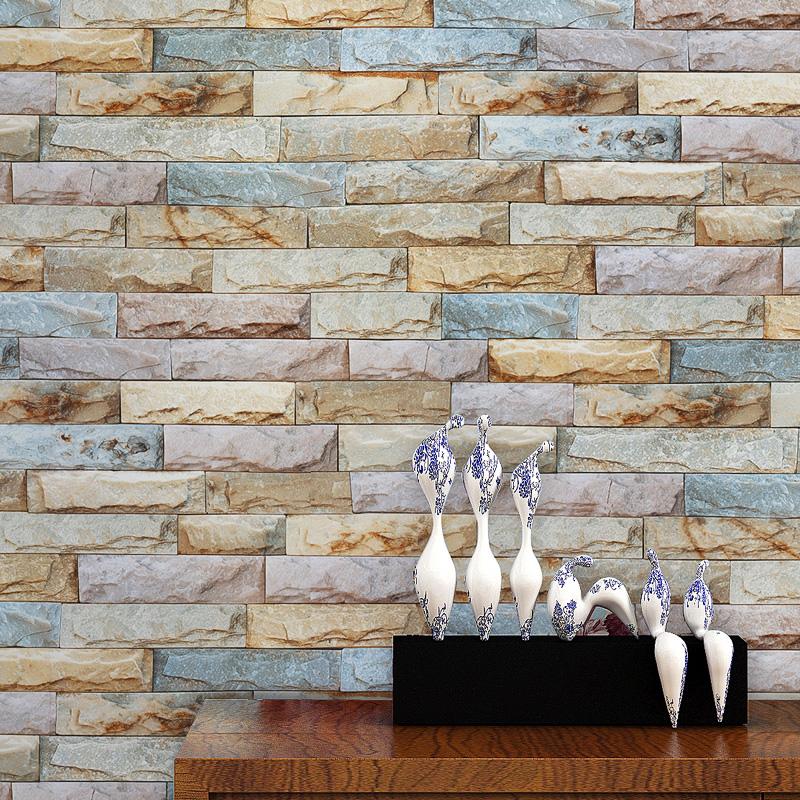beibehang cultura bloques de mrmol pvc wallpaper para paredes de piedra d papeles de la