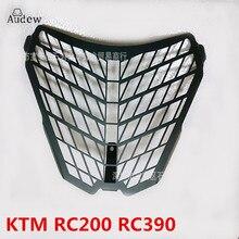 Moto KTM 1190 1190R 1290 RC200 RC390 para Super Aventura Lâmpada de Frente Do Farol Guarda Protetor de Tampa de Aço Inoxidável