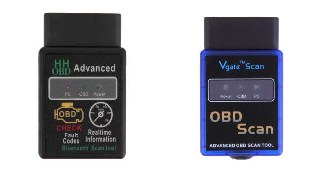 Shenzhen Liancheng Technology Co., Ltd. Universal 2 Colors ELM327 V2.1 Bluetooth HH OBD Advanced OBDII OBD2 ELM 327 Auto Car Diagnostic Scanner code reader scan tool