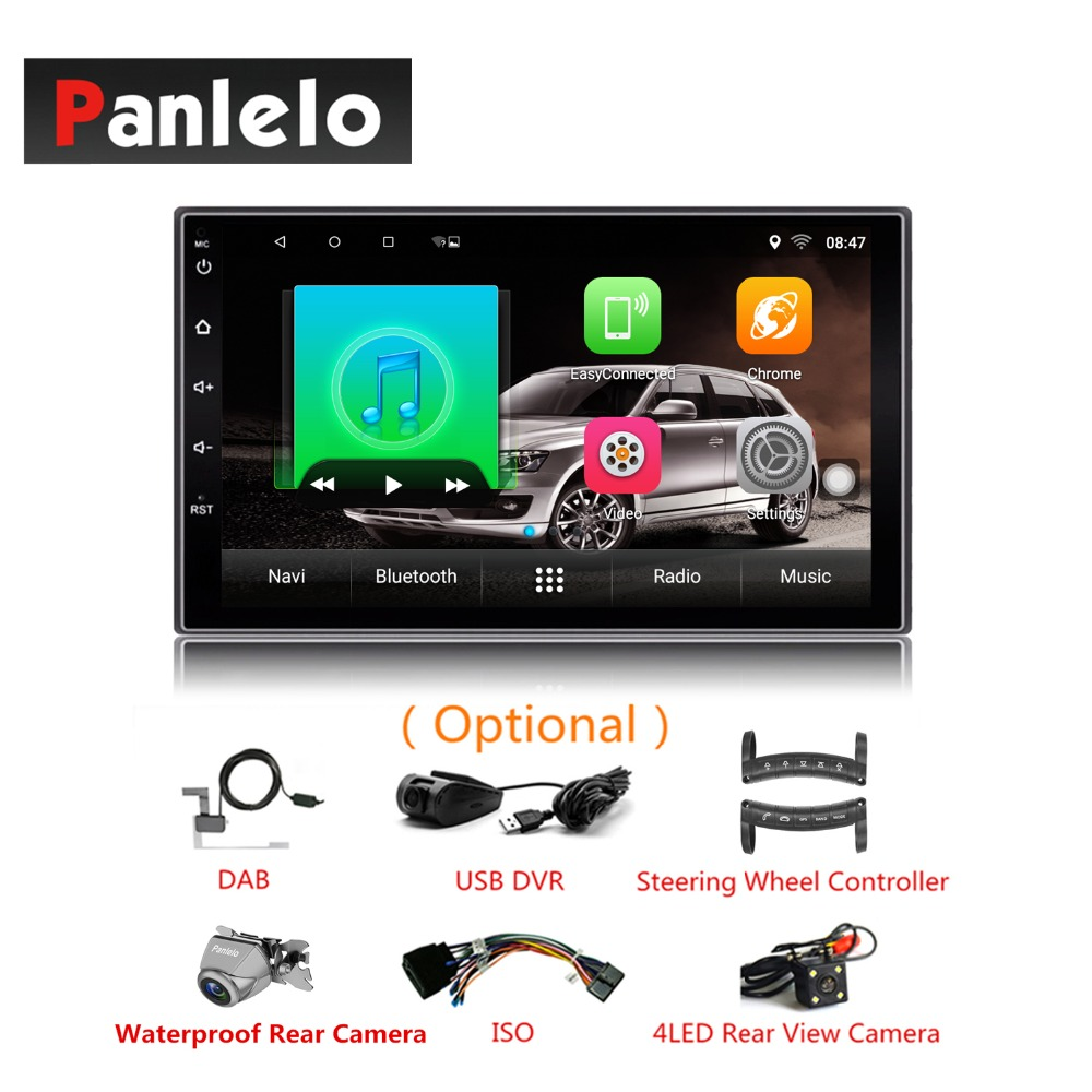 2 DIN android 6.0 Quad Core HD Touch Screen Built-in Bluetooth Wifi AM/FM Radio 1GB RAM 16GB ROM Car GPS Navigation Autoradio double din android 6 0 quad core 1gb 16gb car stereo 7 inch 1024x600 touch screen head unit gps navigation bluetooth wifi am fm