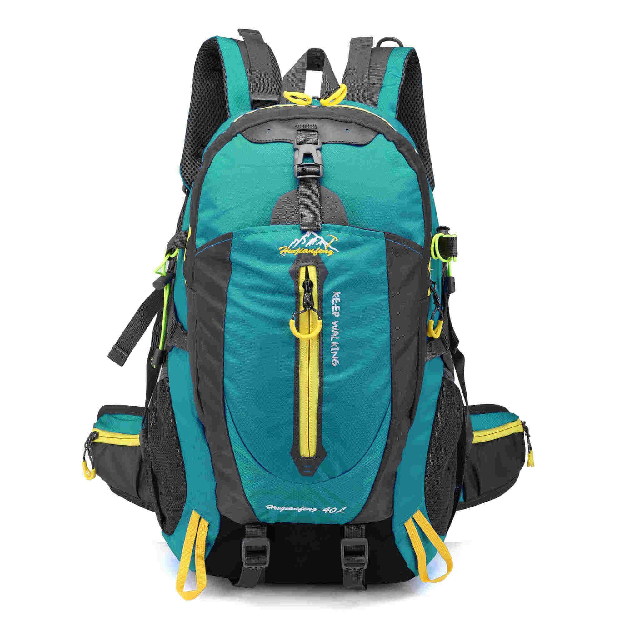 40L กันน้ำปีนเขากระเป๋าเป้สะพายหลังจักรยานกระเป๋าจักรยาน Camping Hike แล็ปท็อป Daypack Rucksack กลางแจ้งผู้ชายผู้หญิงกีฬากระเป๋า
