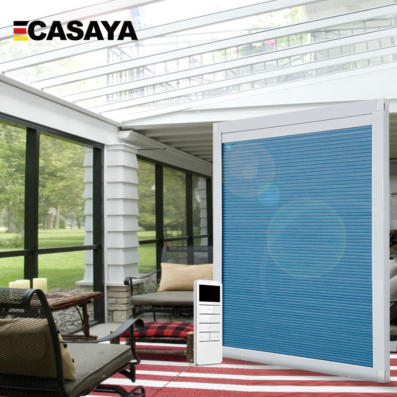 High Quality Motorized Roof Blinds Smart Honeycomb Blinds Electric Skylight Blinds Customized Size