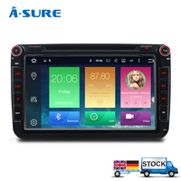 A Sure 1G 16G 2 Din Android 6 0 Car DVD For VW Passat B6 Golf