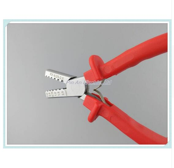 PZ 0.25-2.5 GERMANY STYLE CRIMPING PILER FOR terminal 0.25-2.5mm2 CRIMPING PLIERS crimping tools