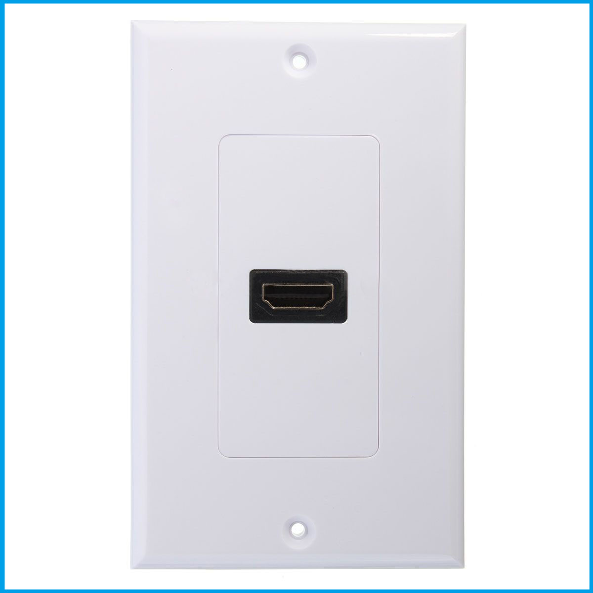 CNIM Hot New 1-Port HDMI Wall Face Plate Panel Cover Coupler Outlet Extender 3D 1080P White