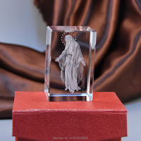 3D Laser Crystal Religious Crystal Decoration Bouddha Statues Paperweight Christmas Gift HD 16001
